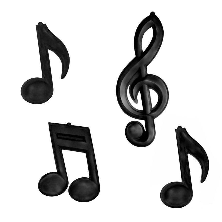 Kit Notas Musicais Preto
