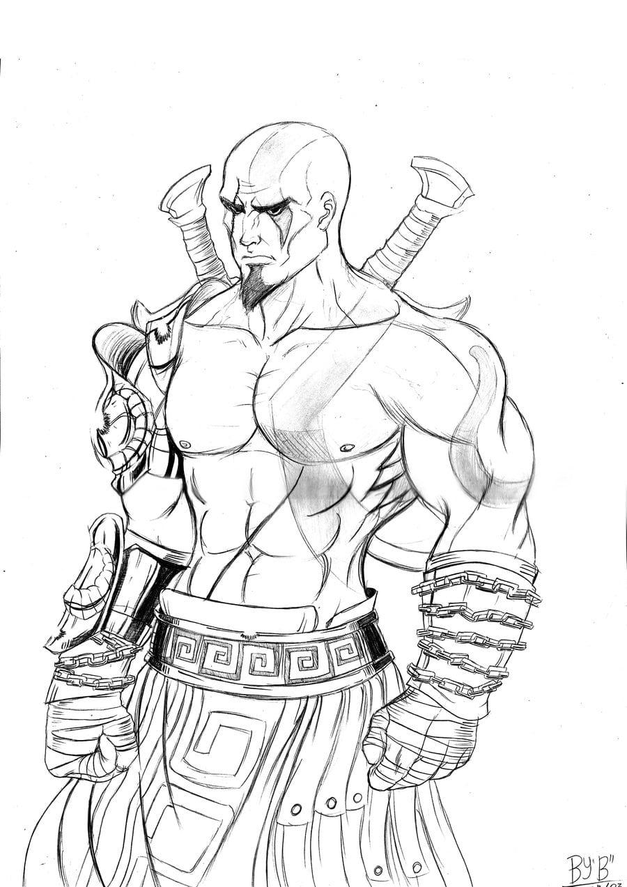 Kratos By Brunohatake3 On Deviantart