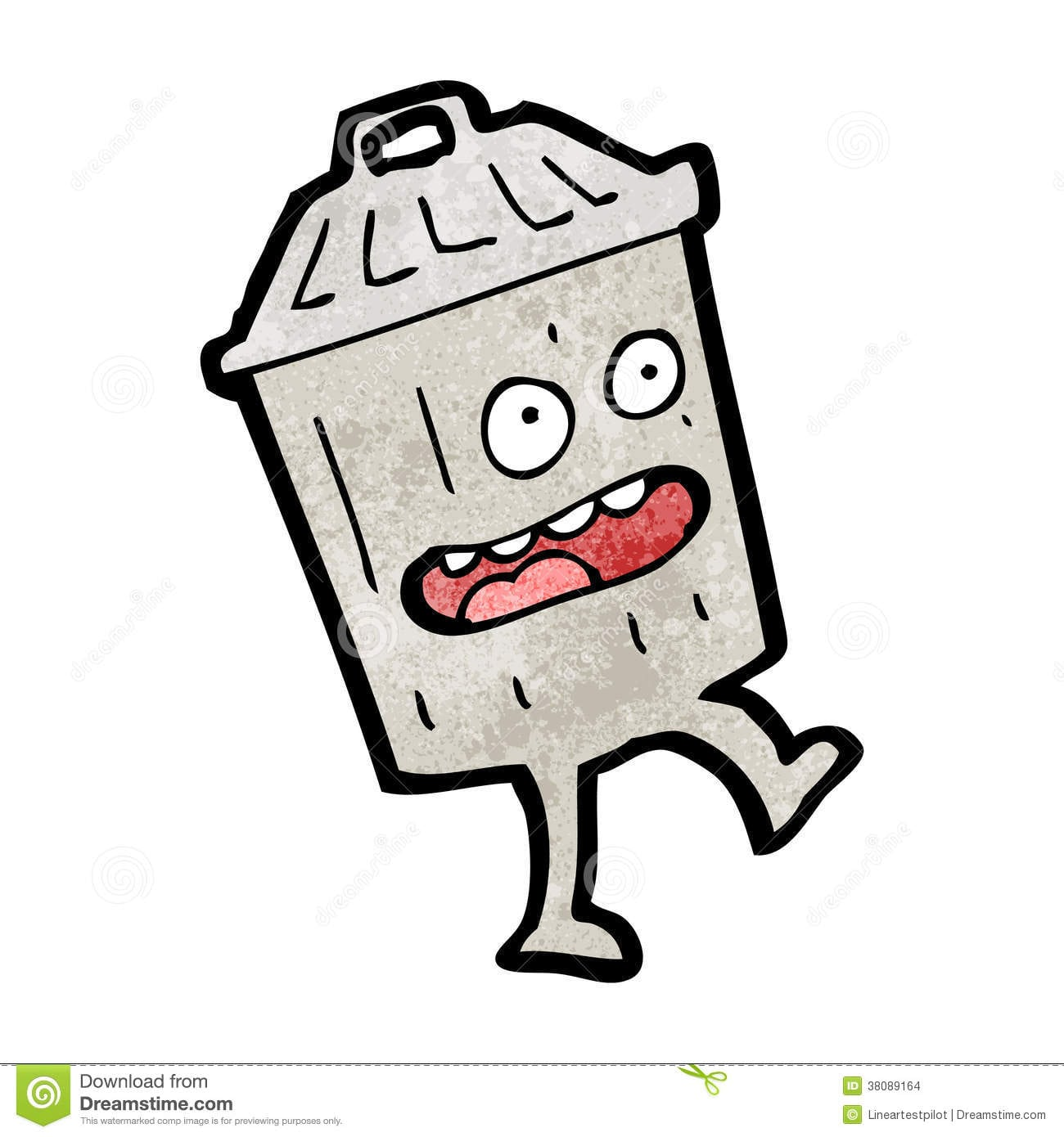 Lata De Lixo Dos Desenhos Animados Imagens De Stock
