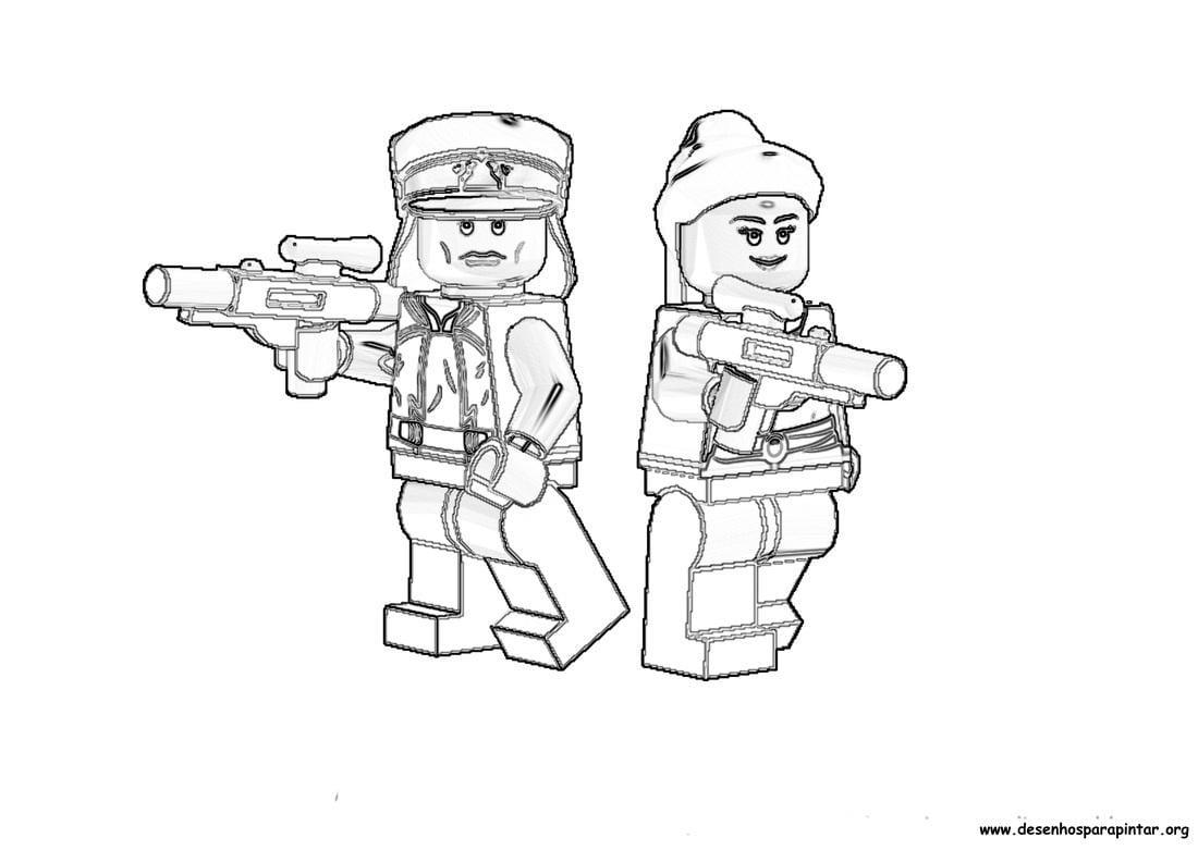 Lego Star Wars – Desenhos Para Colorir, Pintar E Imprimir Do Lego