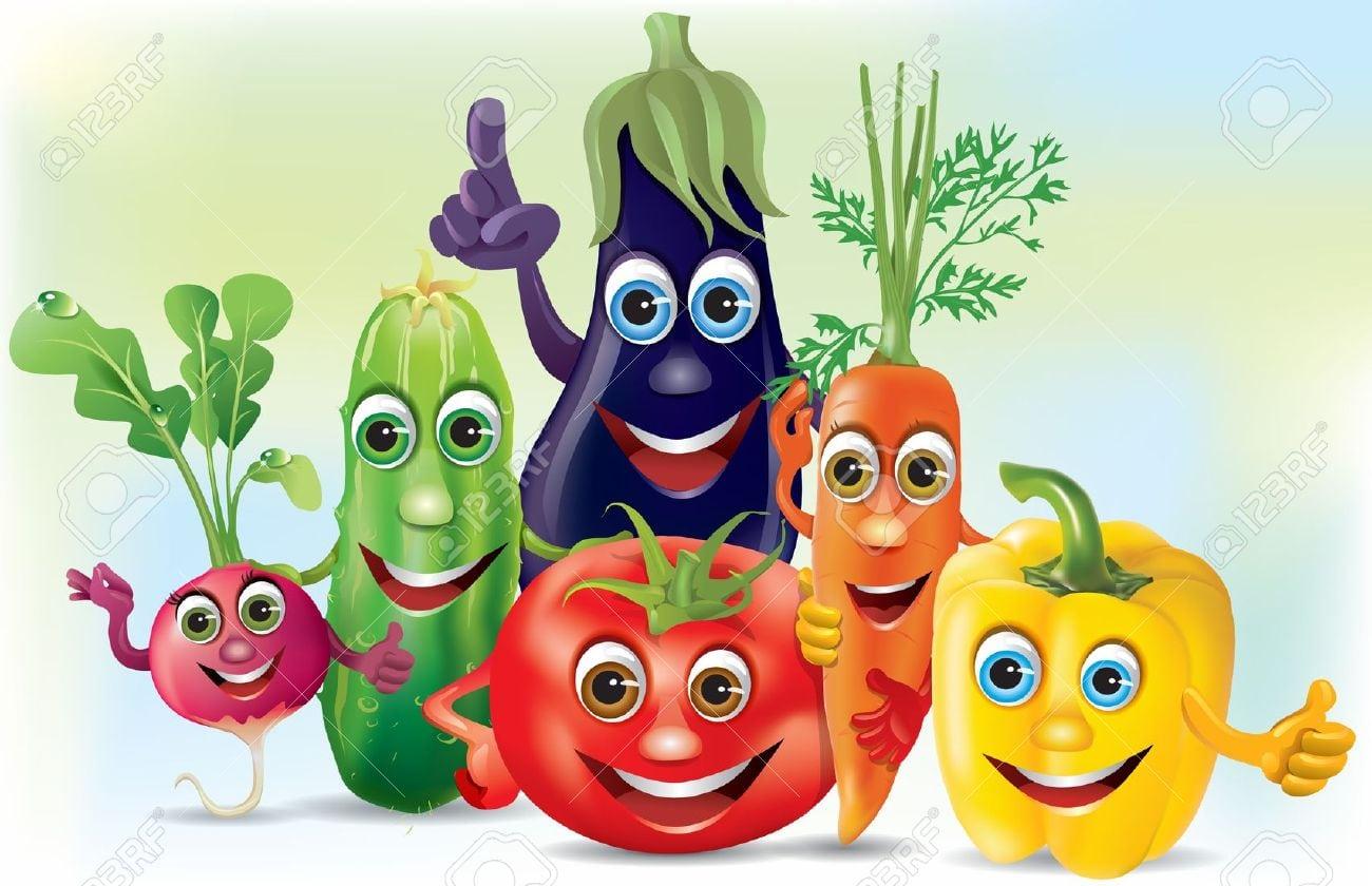 Legumes Empresa Dos Desenhos Animados  Ilustração Contém Objeto