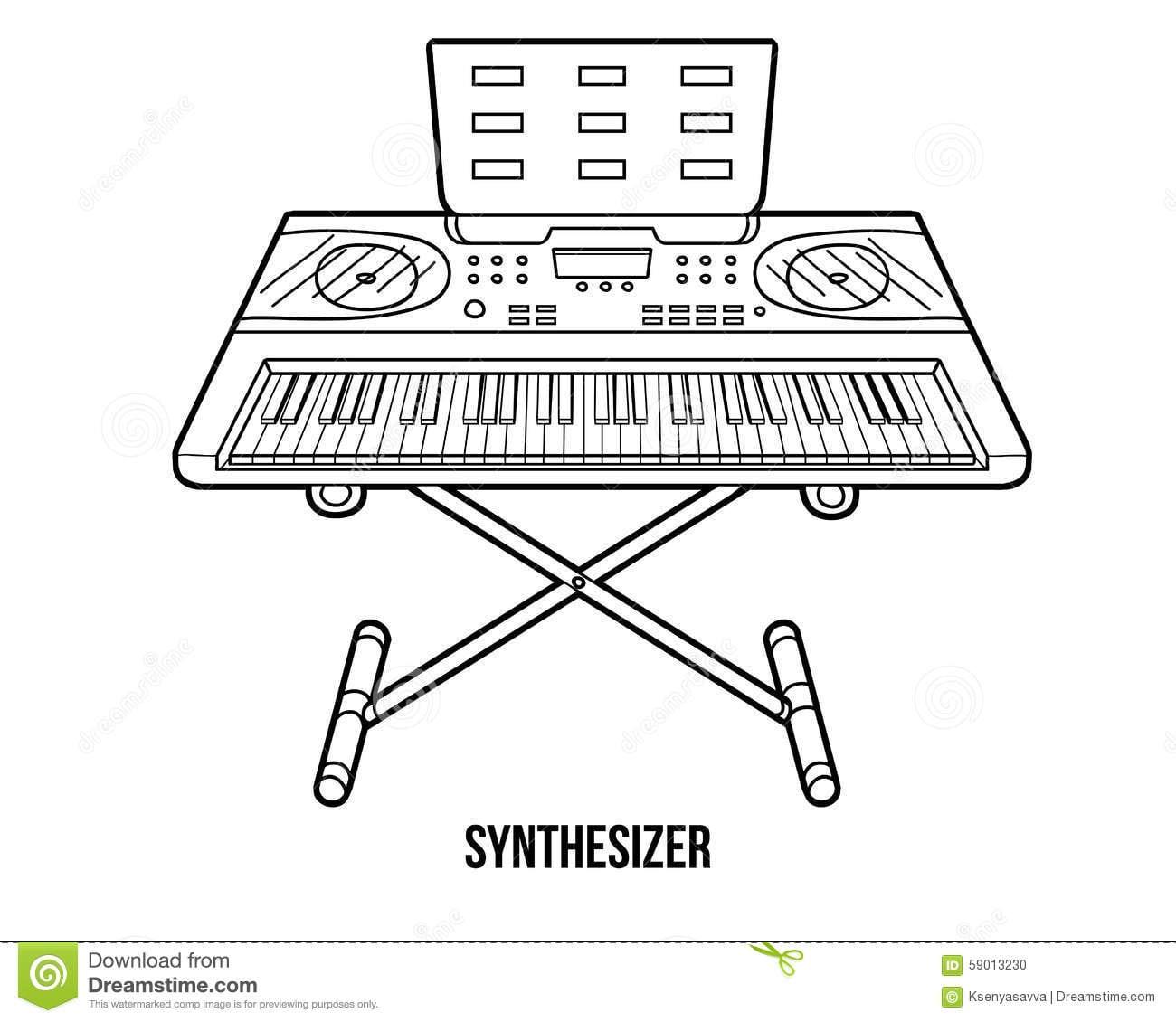 Livro Para Colorir  Instrumentos Musicais (sintetizador