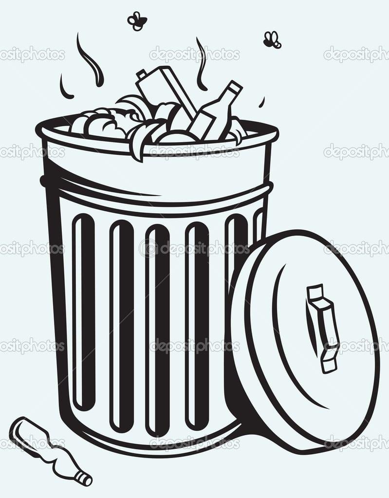 Lixeira Cheia De Lixo — Vetores De Stock © Kreativ  40868265