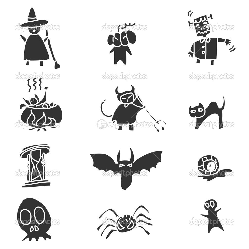 Mão De Desenho Cartoon Halloween — Vetor De Stock © Atthameeni
