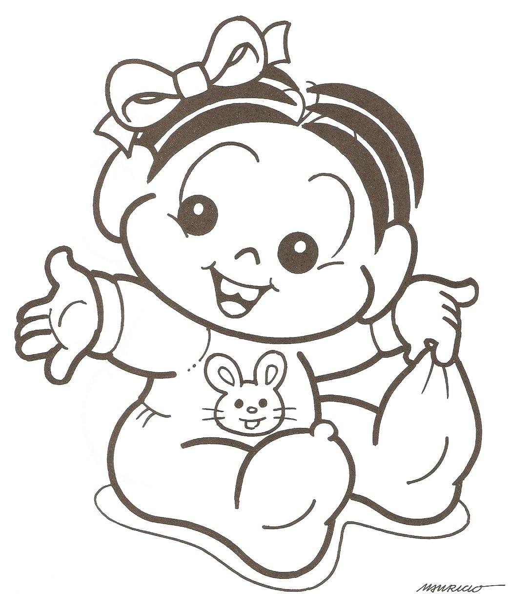 Mônica Bebê – Desenhos Para Colorir