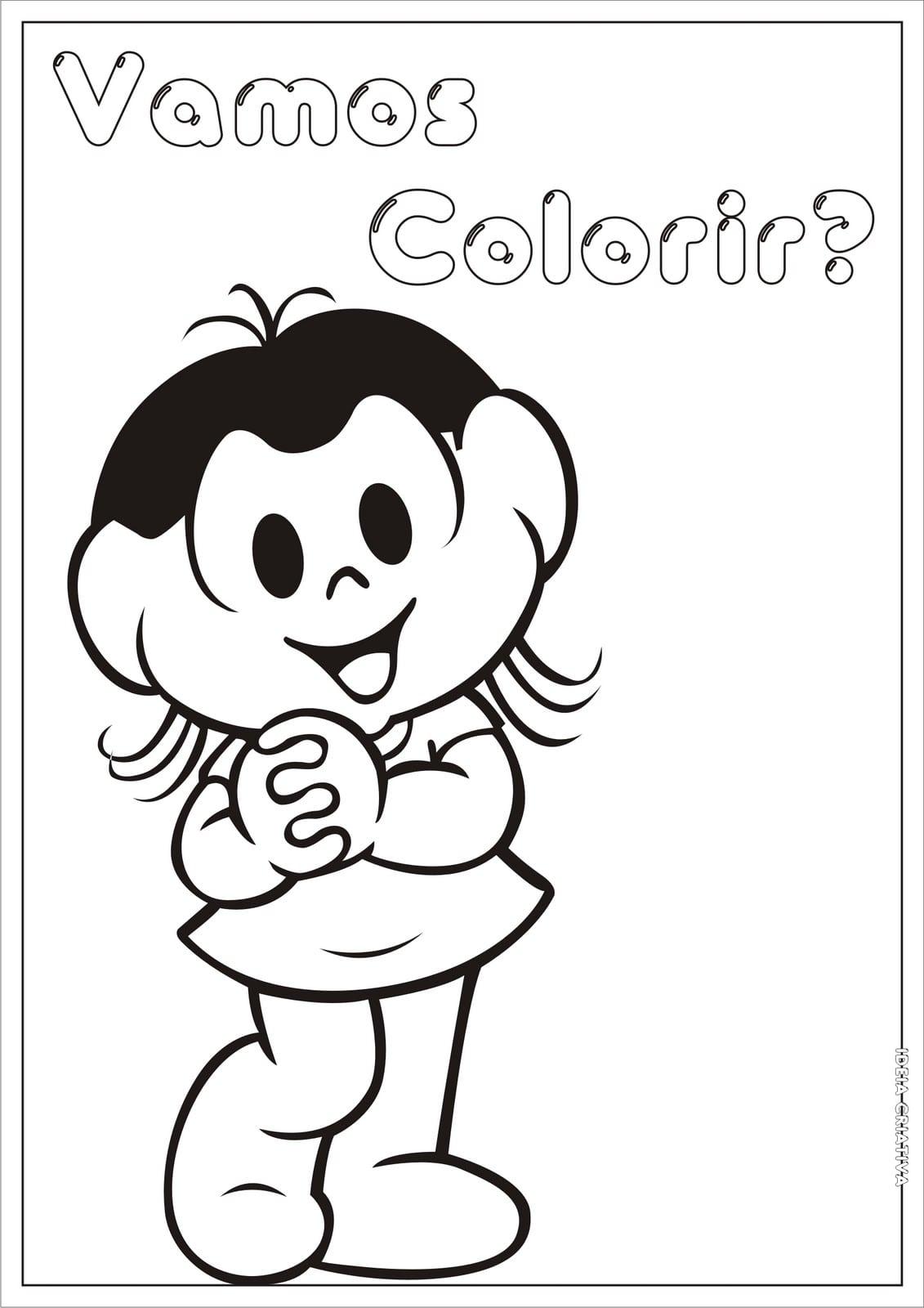 Magali Para Colorir