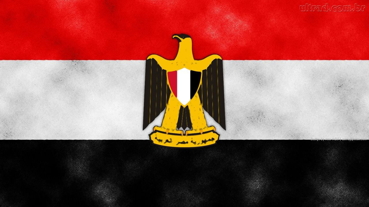 Papel De Parede Bandeira Egípcia