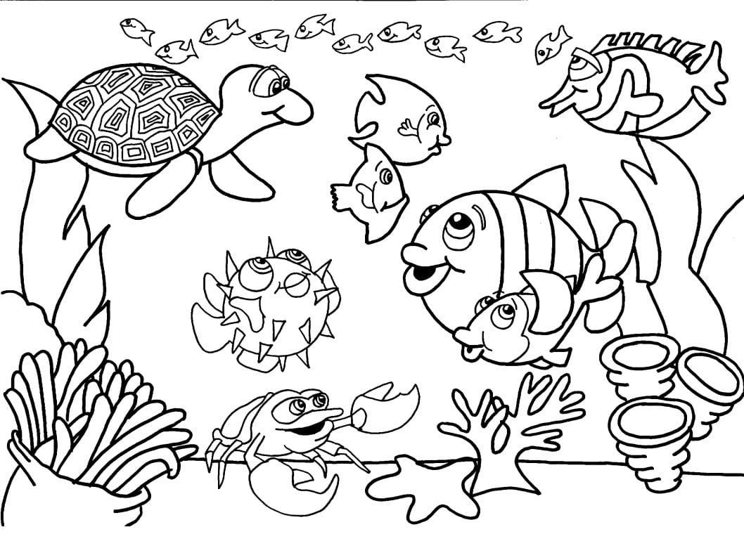 Peixe Para Colorir, Bem Legal