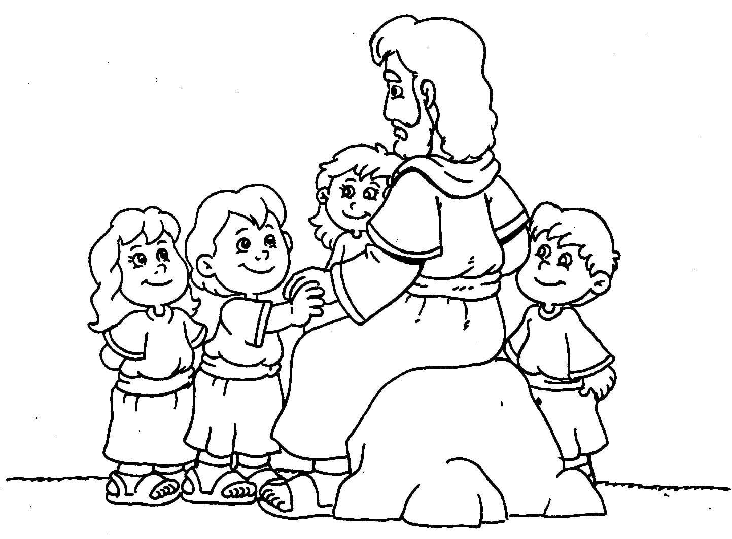 Rita & Frank  Colorir E Pintar Jesus (desenhos Bíblicos)