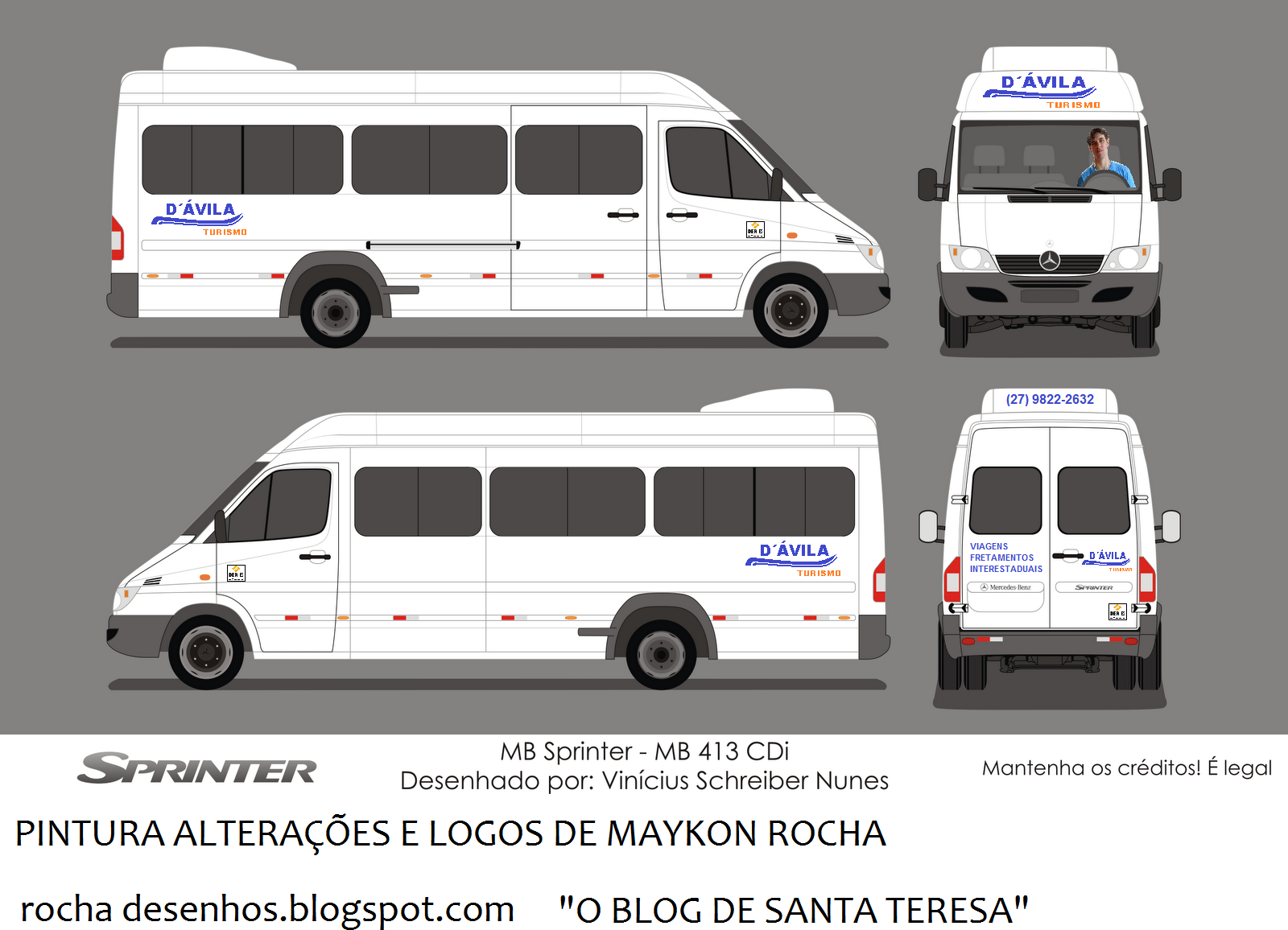 Rocha Desenhos  Sprinter Van