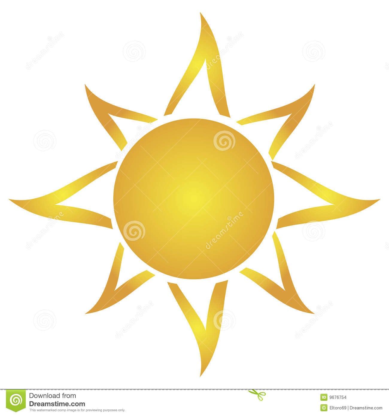 Sol Artístico Do Desenho Imagens De Stock