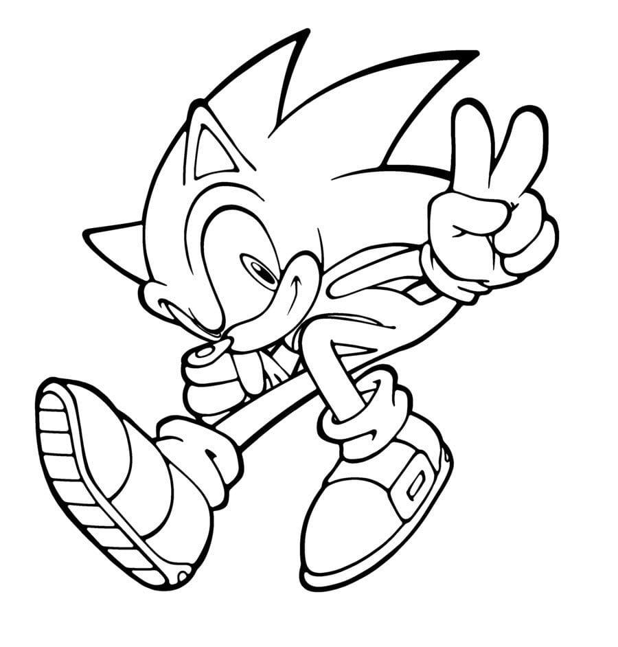 Sonic Para Colorir