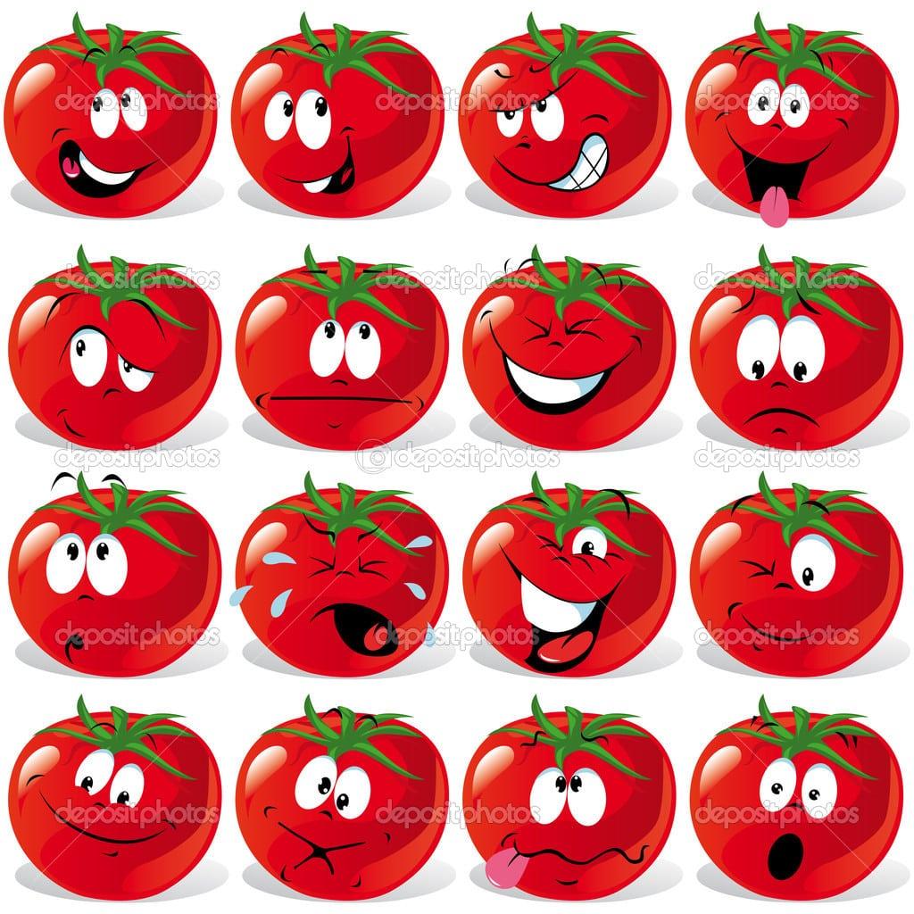 Tomate Dos Desenhos Animados — Vetor De Stock © Hanaschwarz  17432701