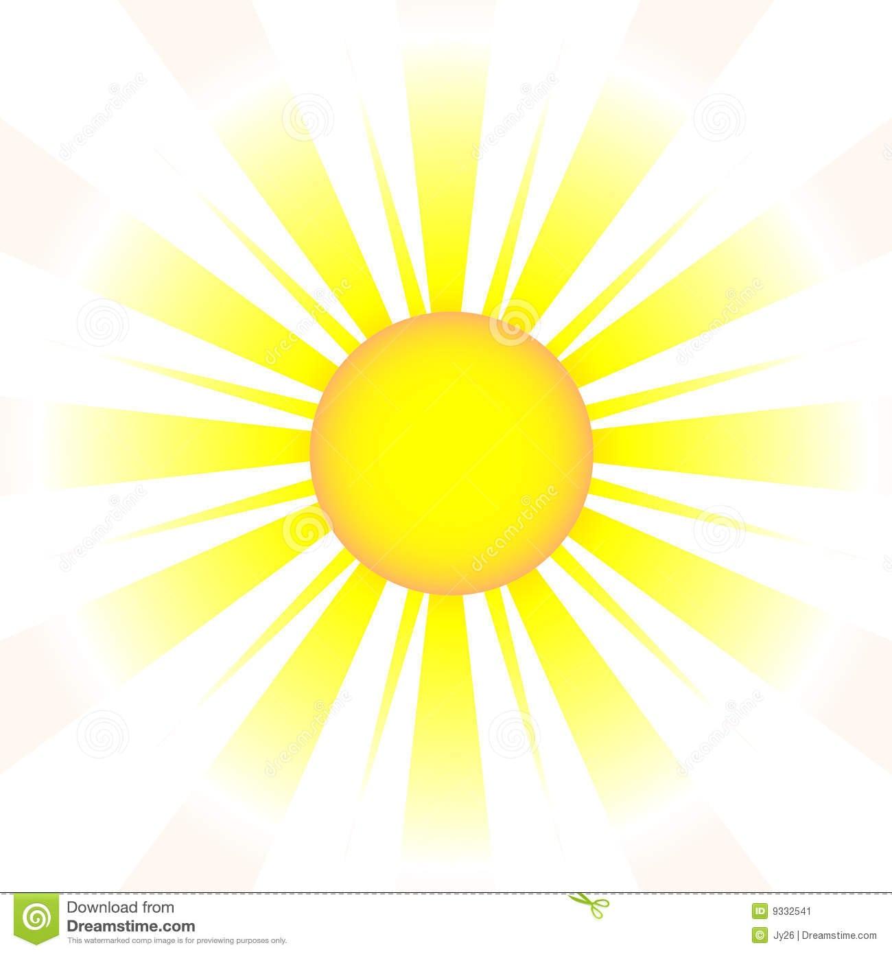 Um Elemento Do Desenho Do Sol (vetor) Imagem De Stock