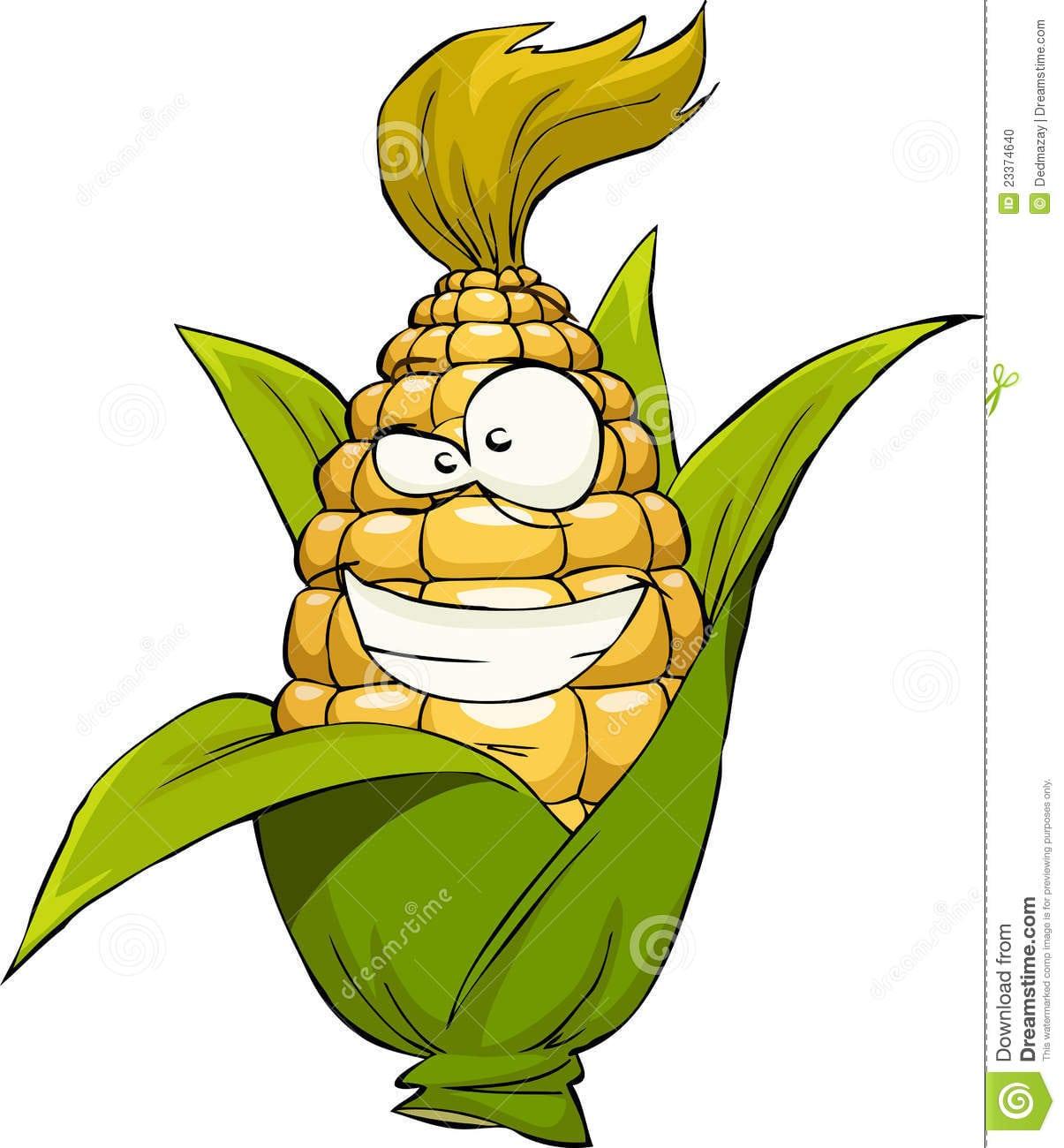 Milho Dos Desenhos Animados Foto De Stock