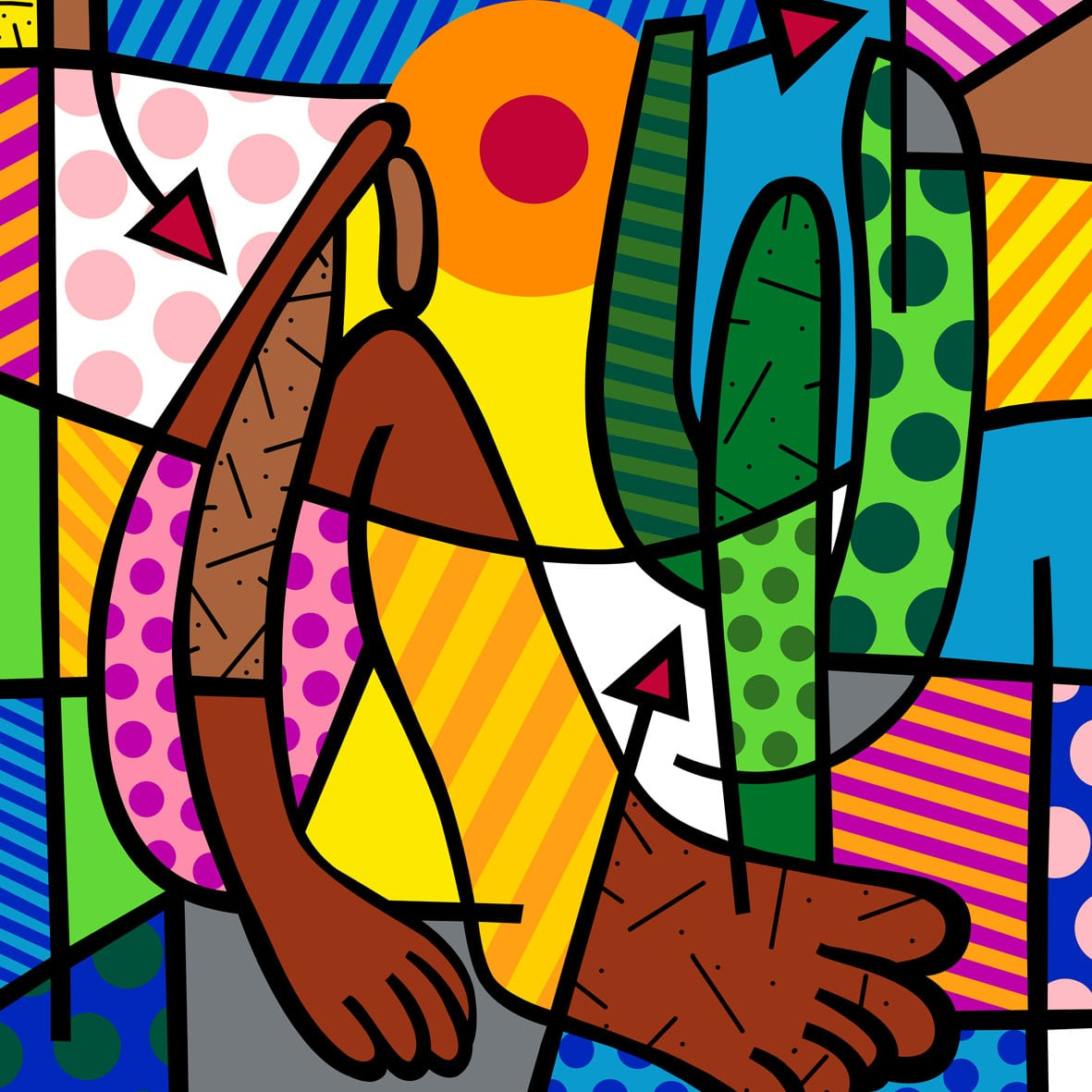 Romero Britto, Pop Art And Messages On Pinterest