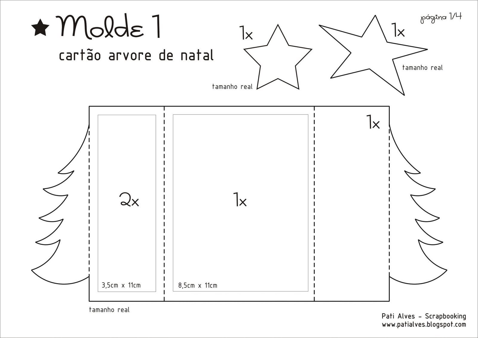 Moldes E Modelos De árvore De Natal Para Montar!