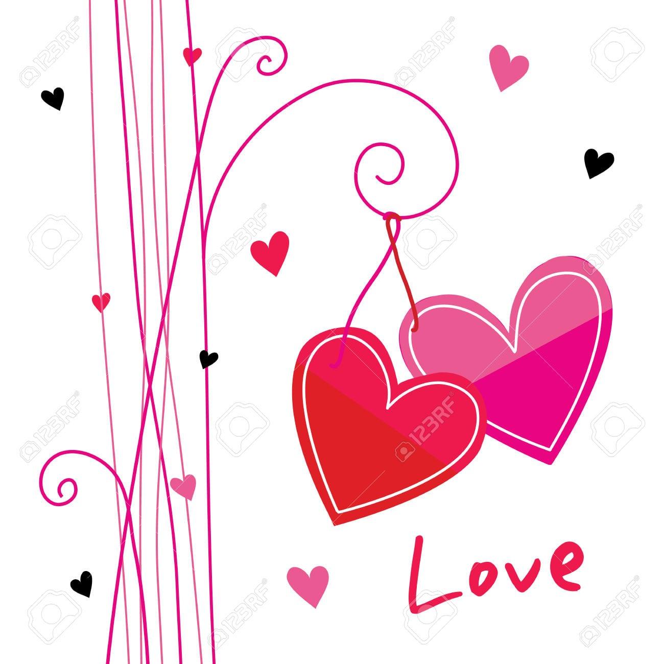 Amor Coração Do Vetor Bonito Dos Desenhos Animados Royalty Free