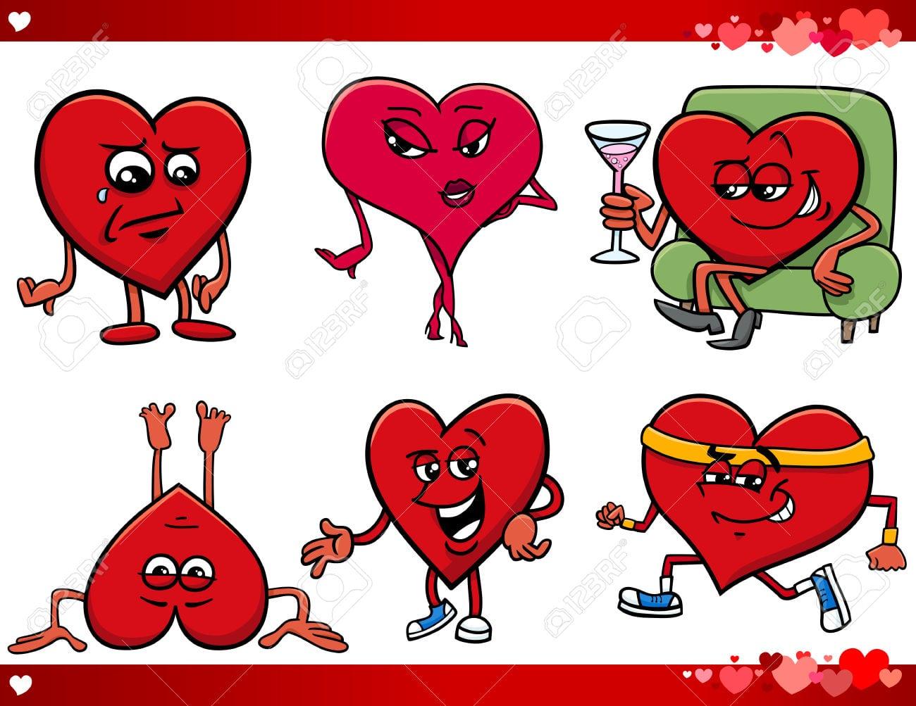 Ilustração Dos Desenhos Animados Do Dia Dos Namorados E Amor Temas