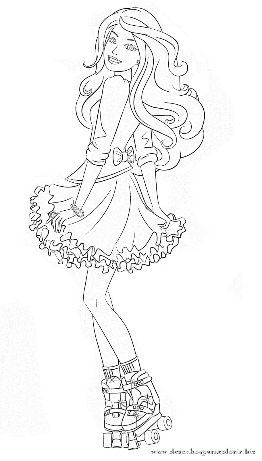 Desenhos Para Colorir  20 Desenhos Da Barbie Para Imprimir
