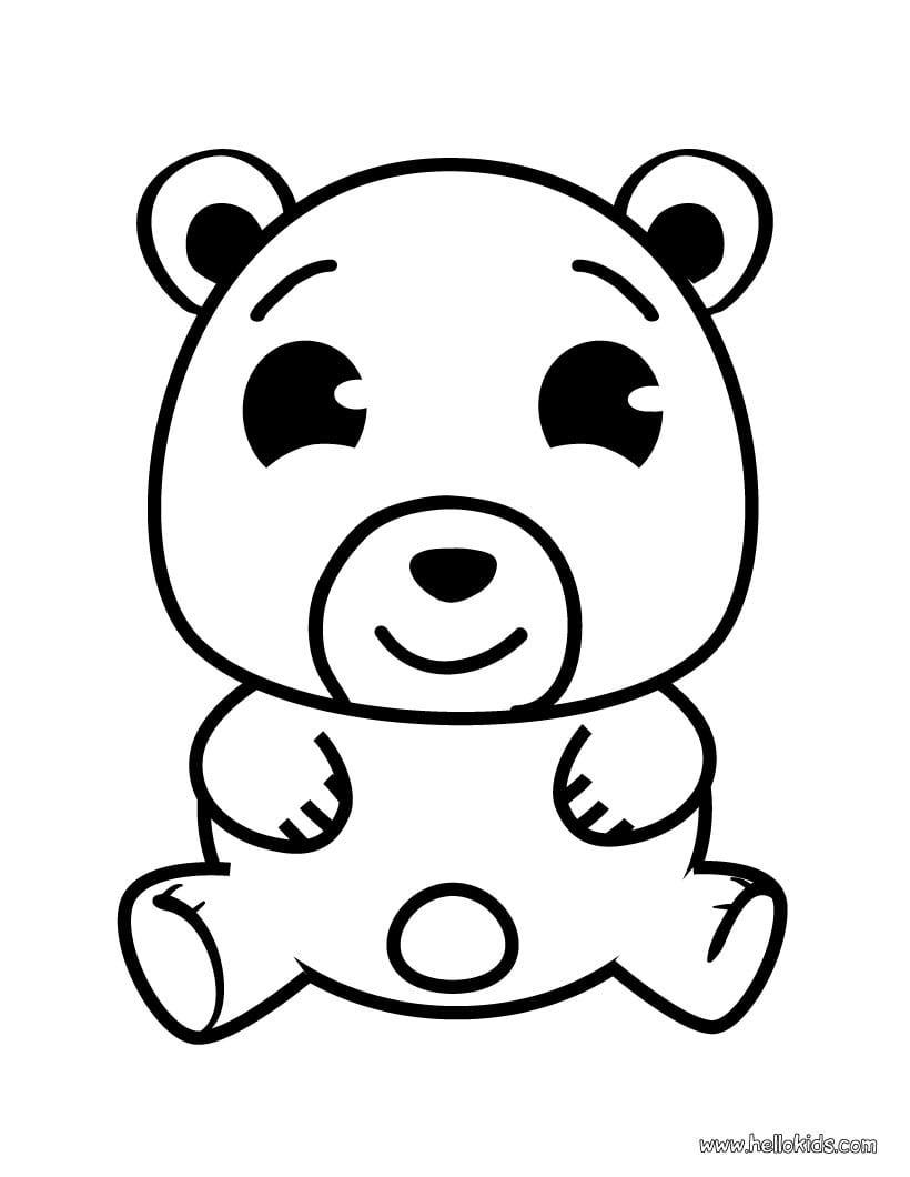 Desenhos Para Colorir De Desenho Da Cabeça De Um Urso Para Colorir