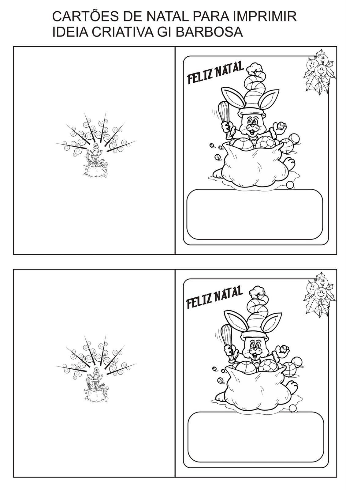 Cartão De Natal Imprimir