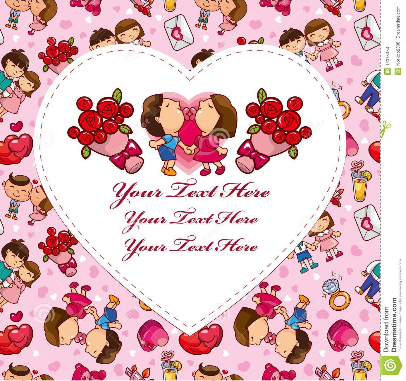 Cartão Do Amor Dos Desenhos Animados Imagens De Stock