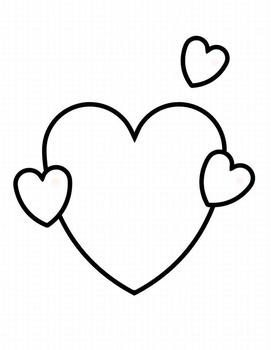 Desenhos De Coração Para Colorir ~ Imagens Para Colorir