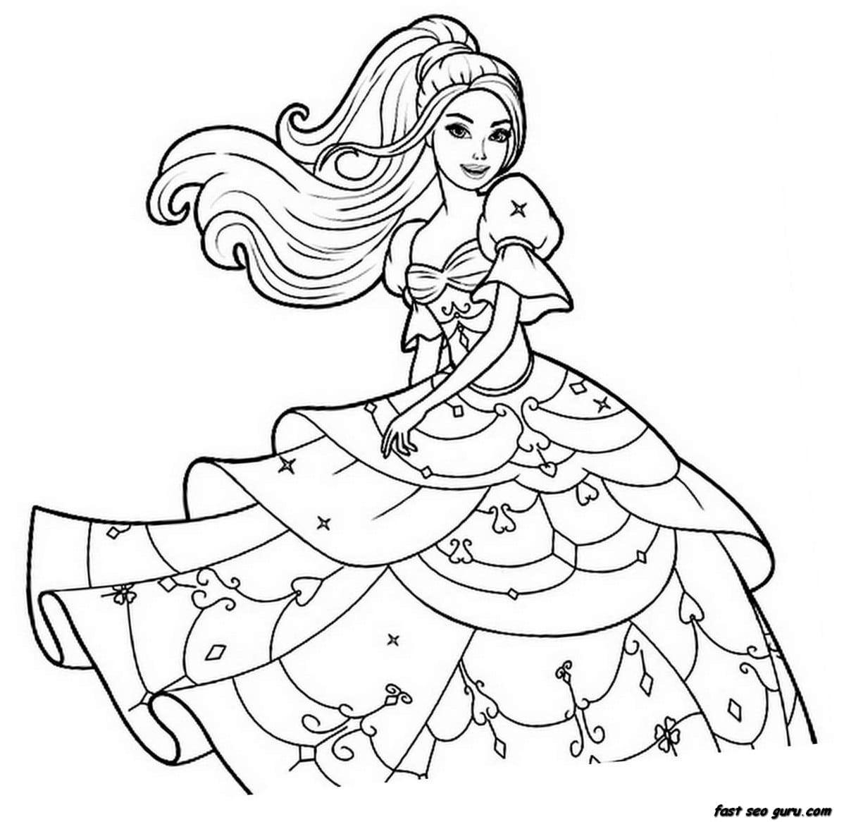 Desenhos Para Colorir Pintar E Imprimir Da Barbie