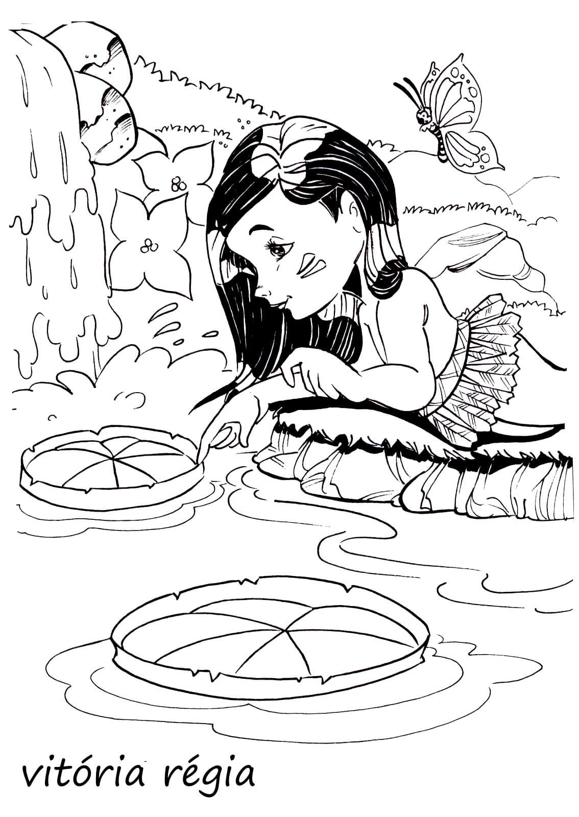 Desenhos Colorir Folclore  Saci Pererê, Cuca, Boi Bumbá, Mula Sem