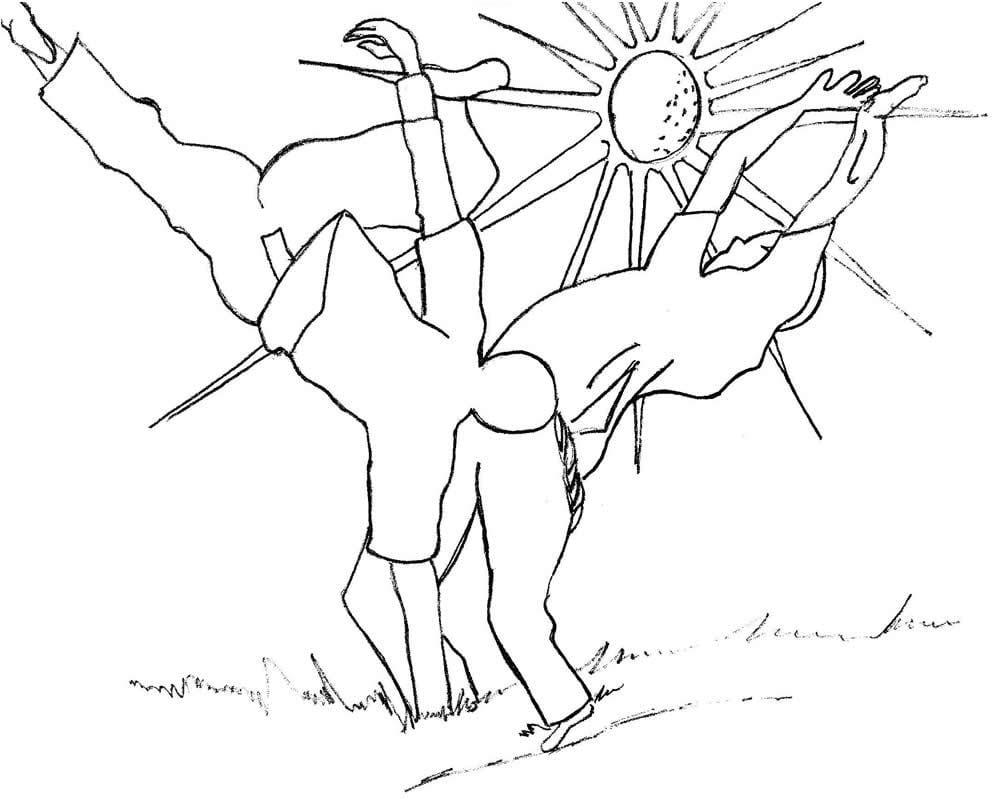 Desenhos De Capoeira Para Colorir