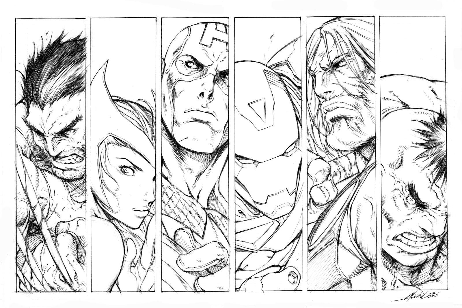 Os Vingadores – Desenhos Para Colorir, Pintar E Imprimir Gratis