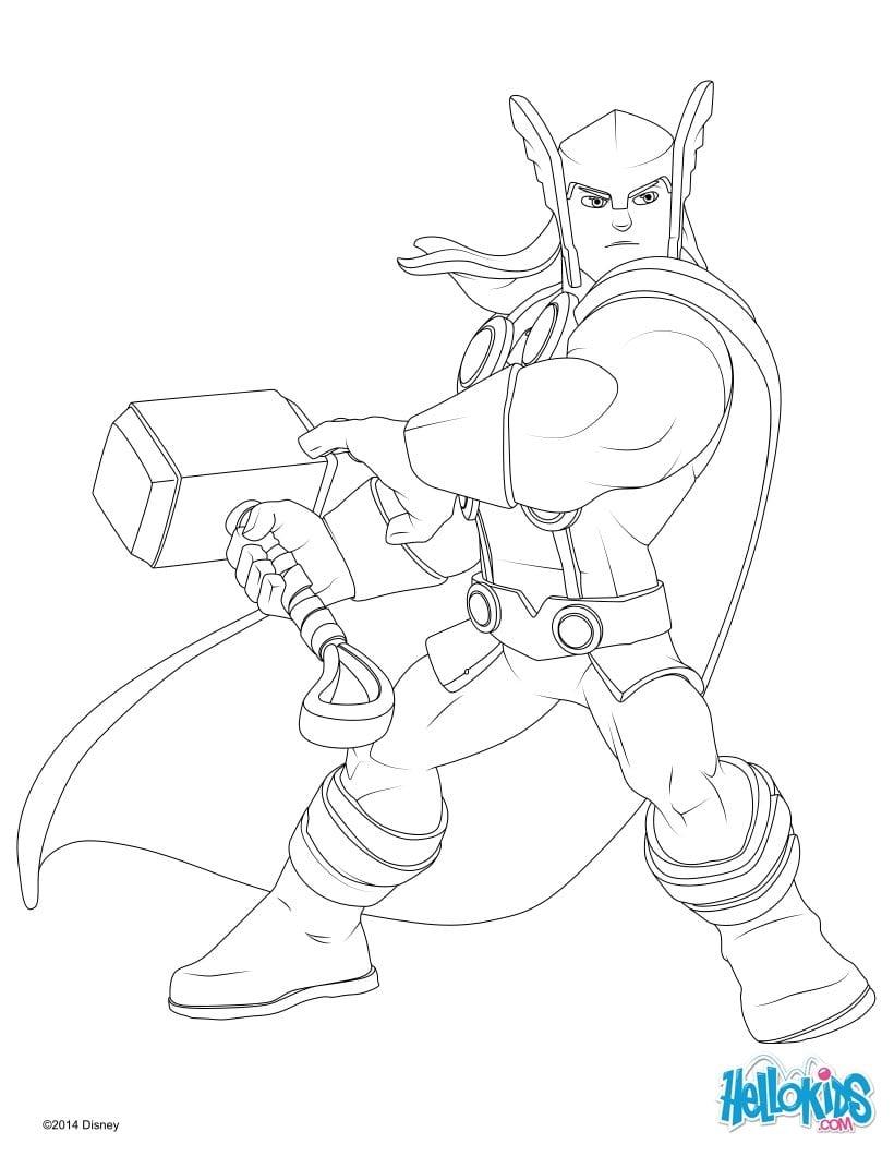 Desenhos Para Colorir De Thor Os Vingadores