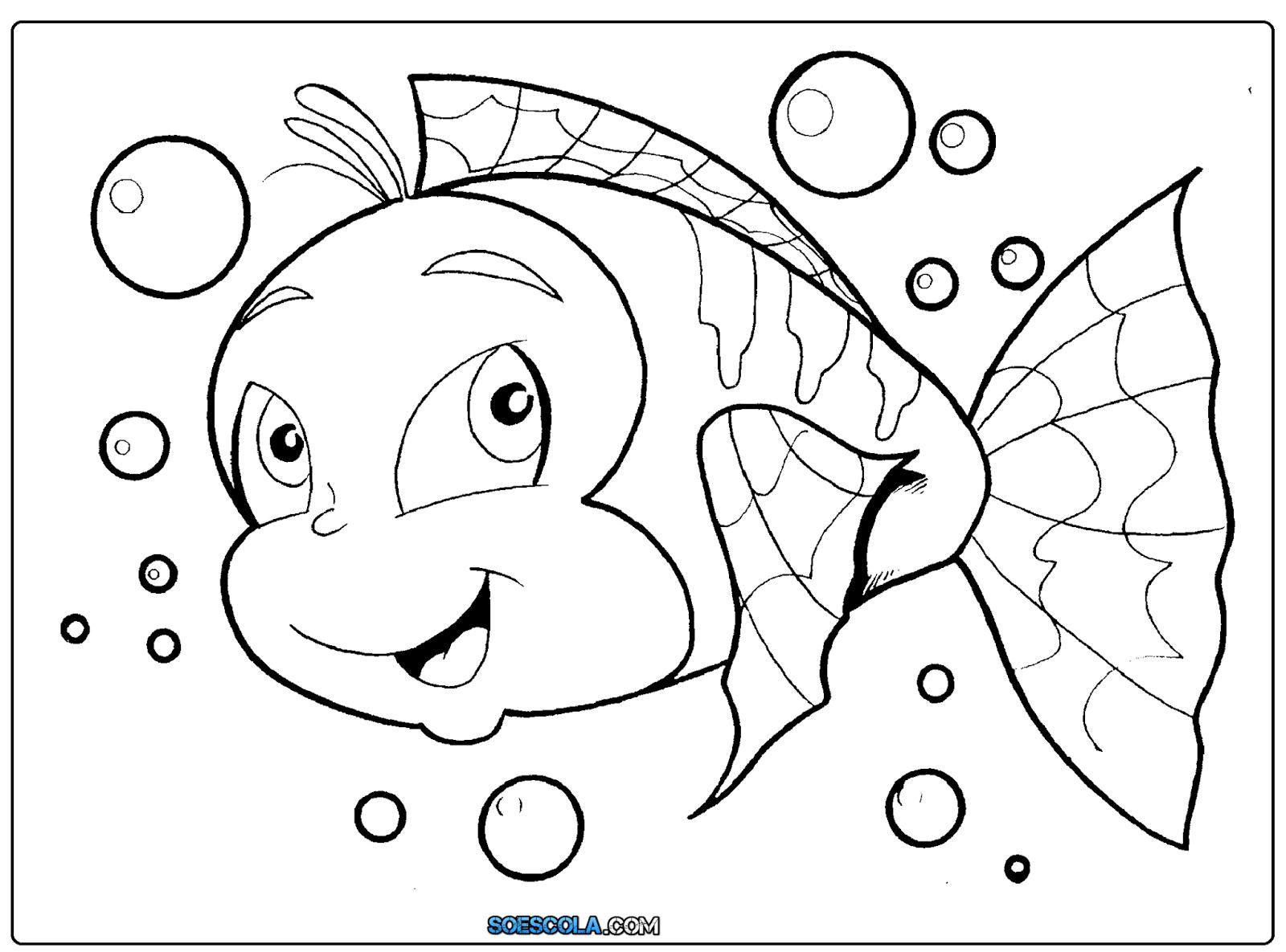 8 Desenhos De Peixes Para Colorir