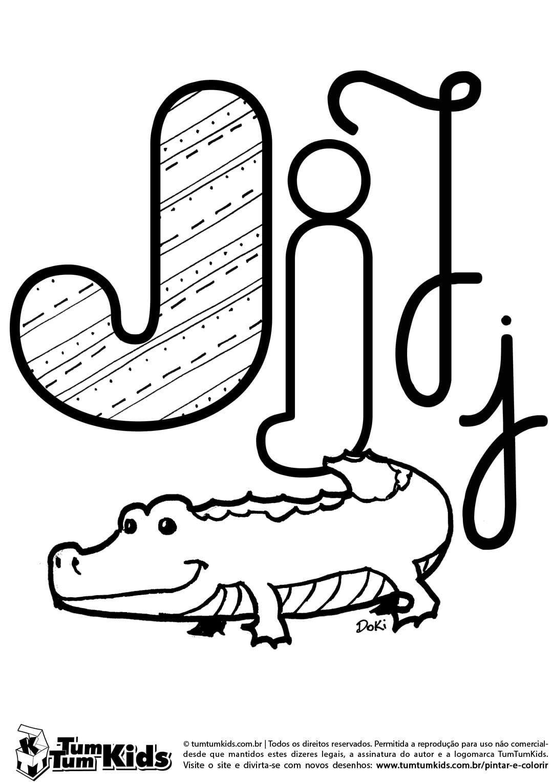 Letra J De Jacaré