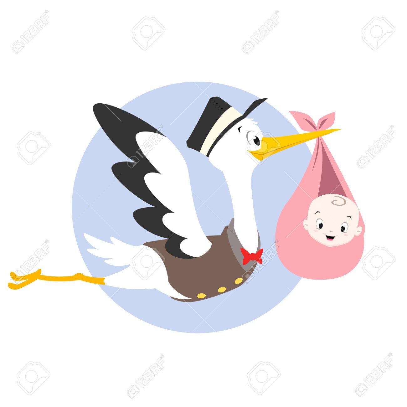 desenho de cegonha com bebe Storks Baby Boy Clip Art stork carrying baby clipart