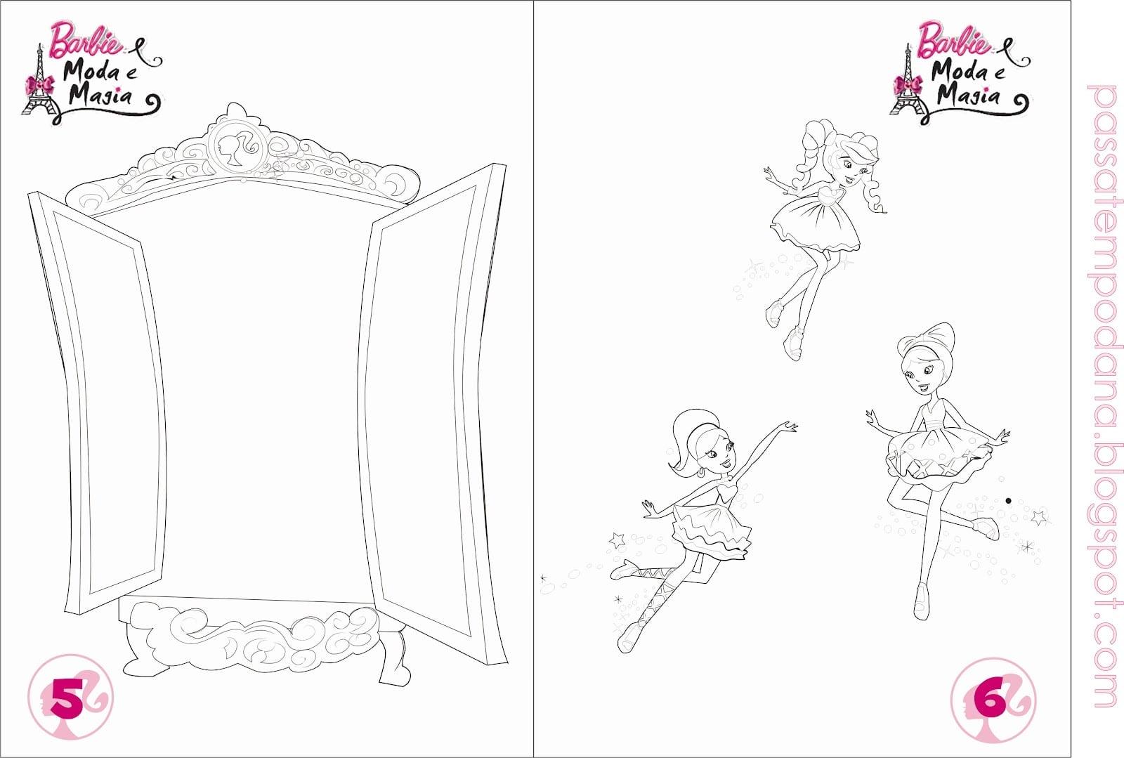 Desenhos Para Colorir Barbie Moda E Magia