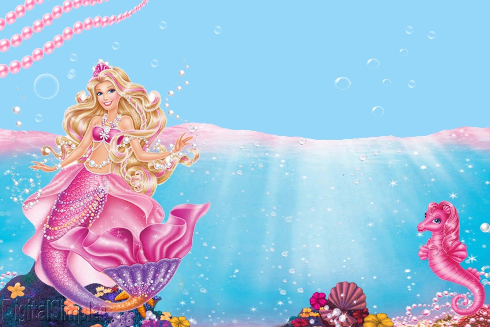 Kit Personalizado Tema Barbie Sereia Das Pérolas