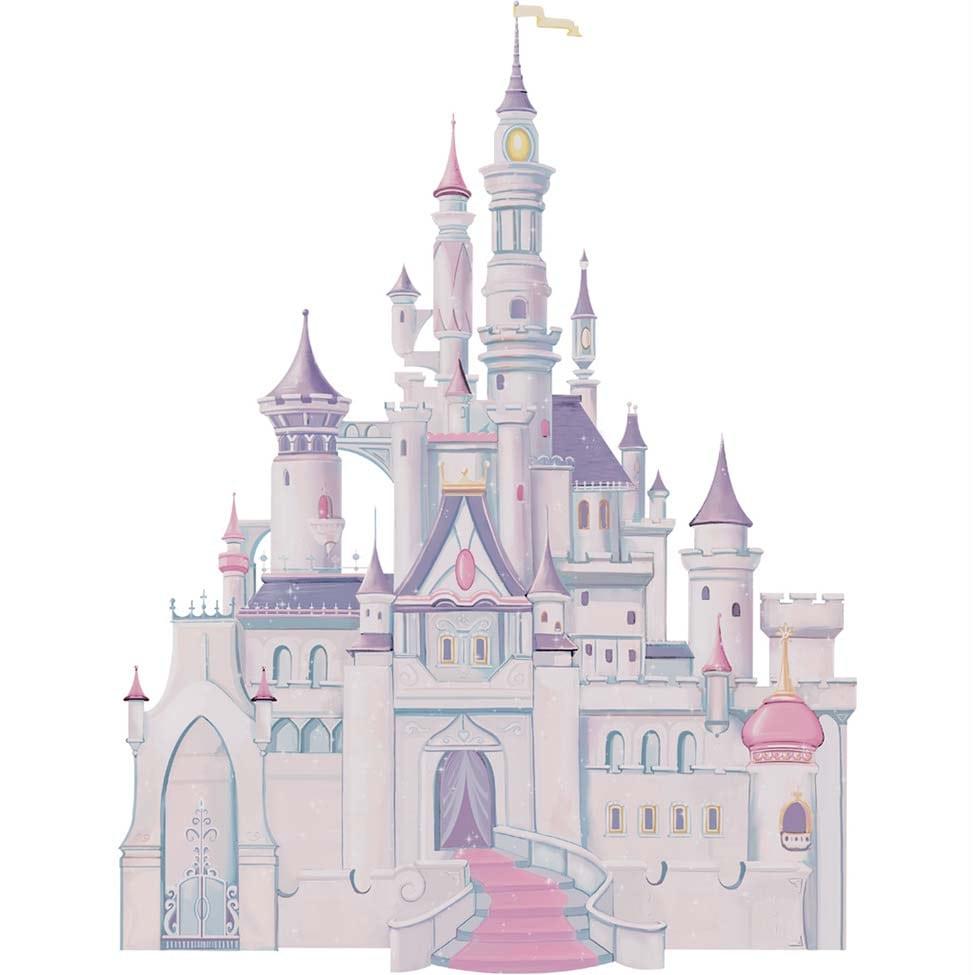 Adesivo De Parede Castelo Disney Princesas Sd Roommates