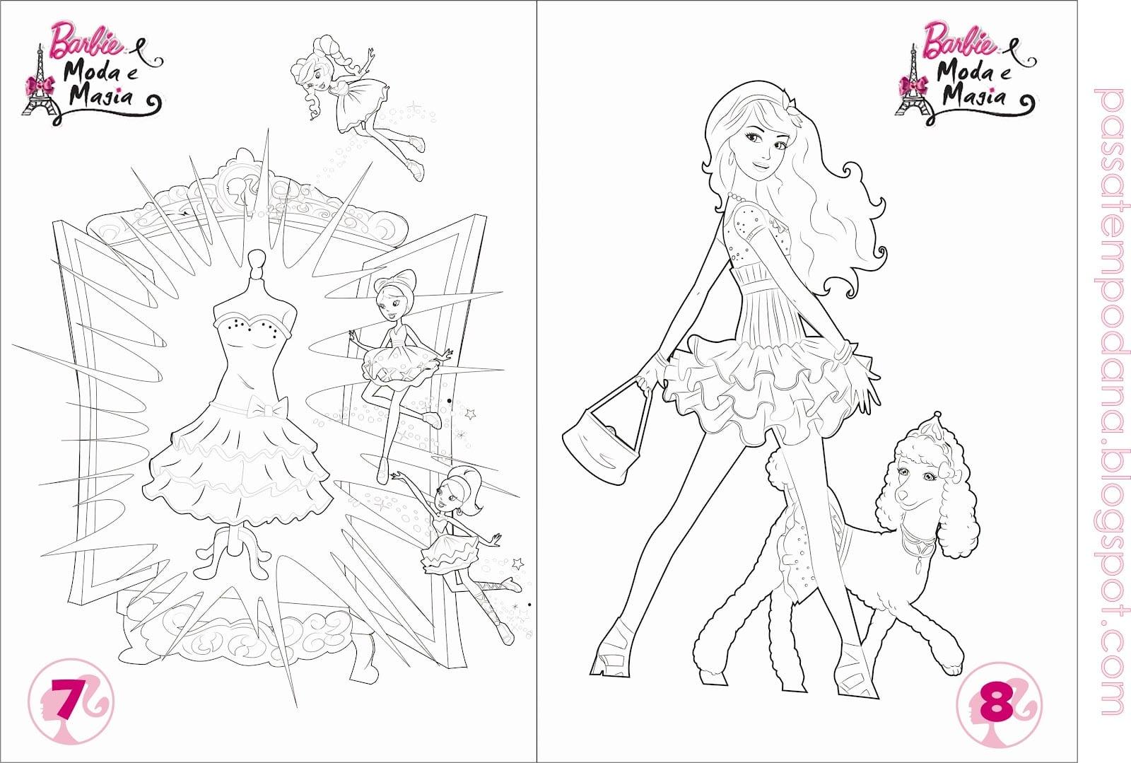Imagens Para Colorir E Imprimir Da Barbie Moda E Magia