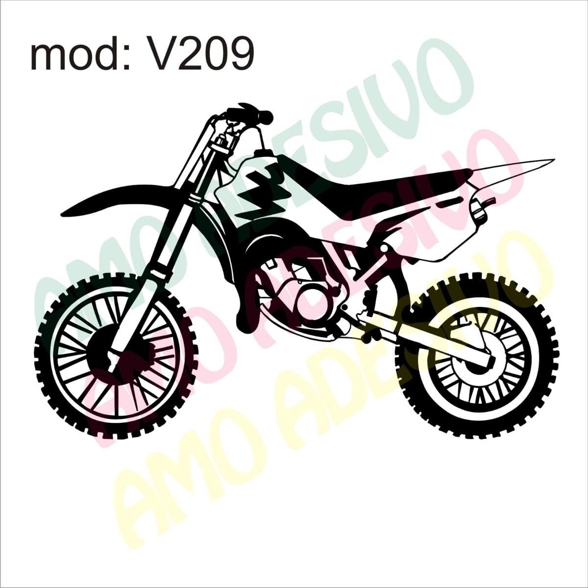 Adesivo V209 Moto Xt Desenho Abstrato Decorativo De Parede