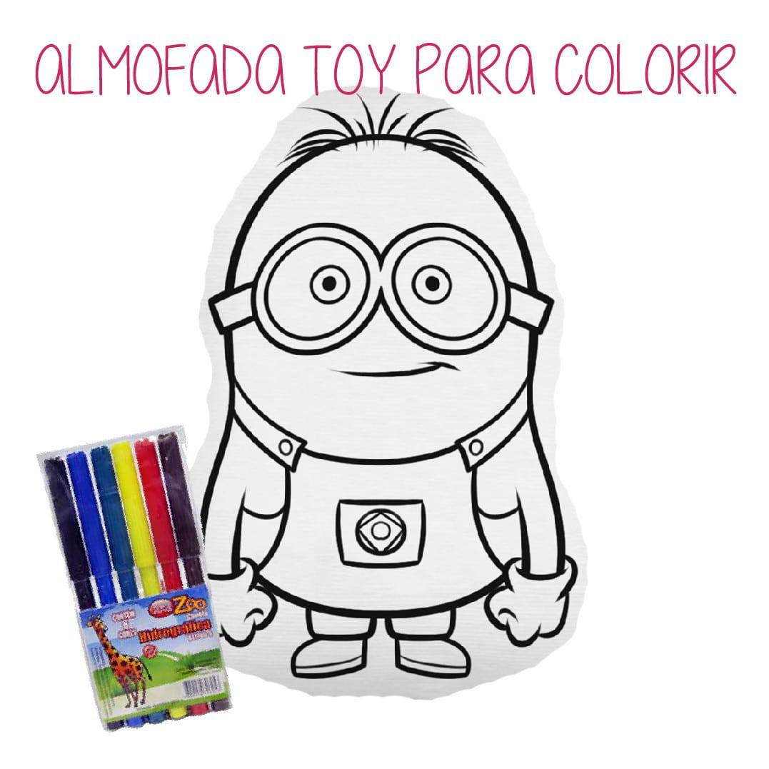 Almofada Minions Para Colorir