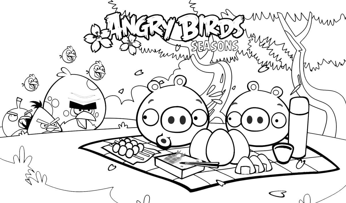 Desenhos Dos Angry Birds Para Colorir, Pintar, Imprimir E Preparar