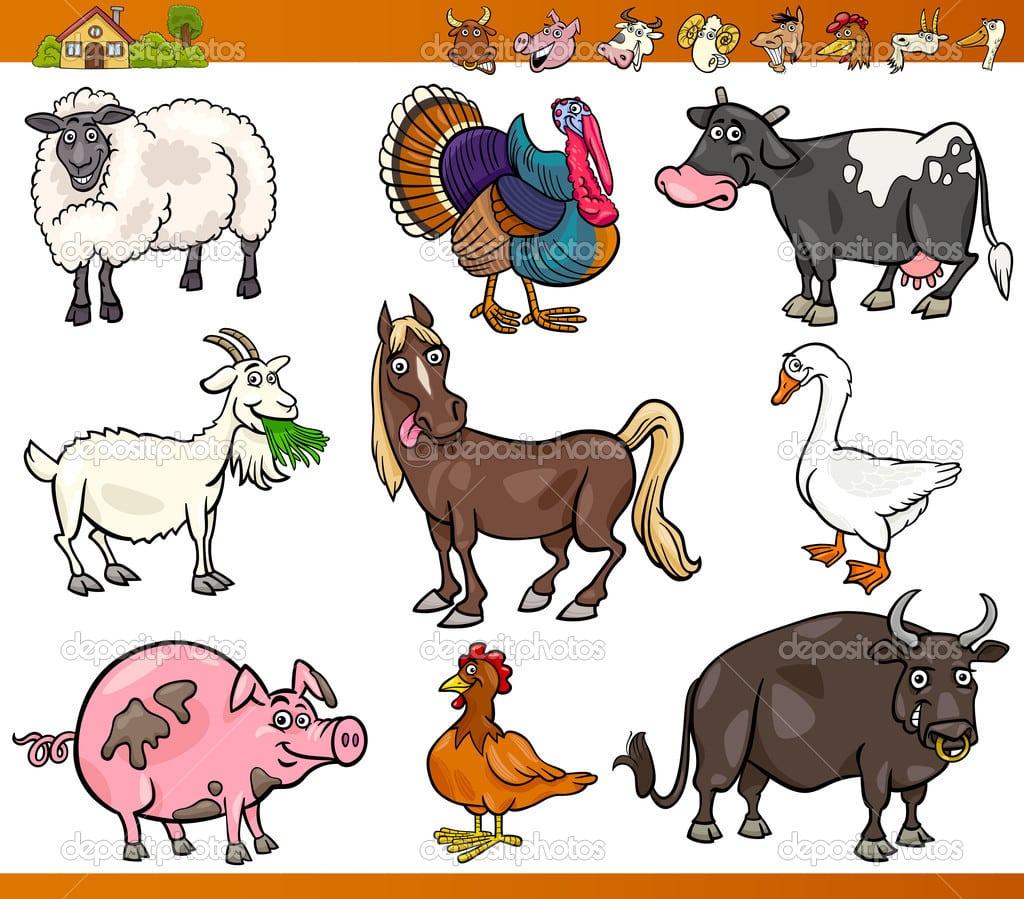 Desenho De Fazenda Com Animais