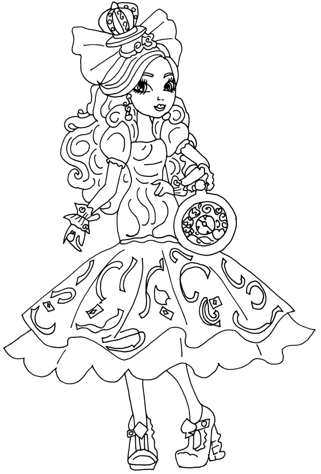 Ever After High Epic Winter Coloring Pages Bruno Leproust