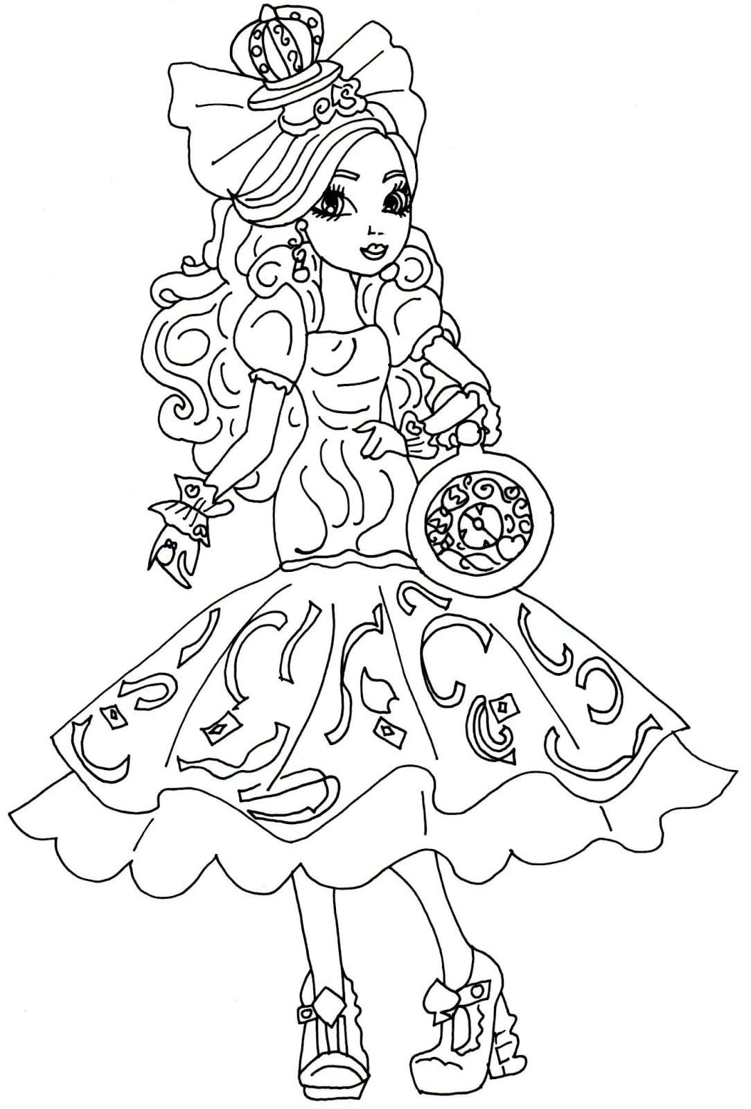 Desenho De Kitty Cheshire De Ever After High Para Colorir