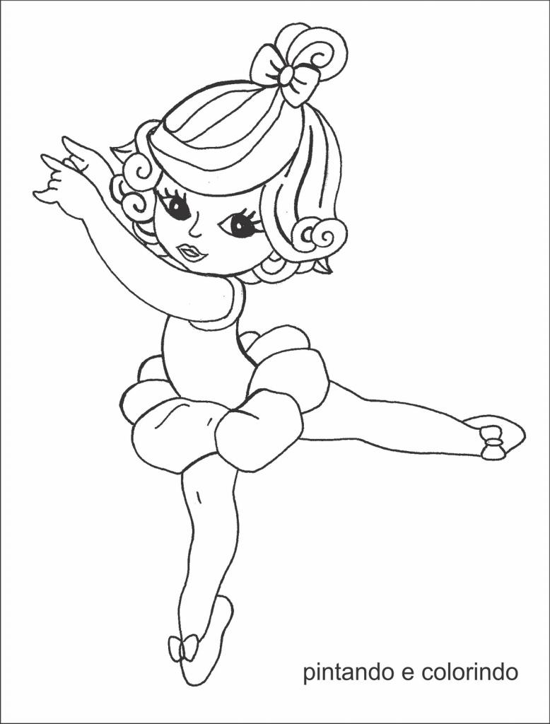Desenhos De Bailarina Para Colorir E Imprimir