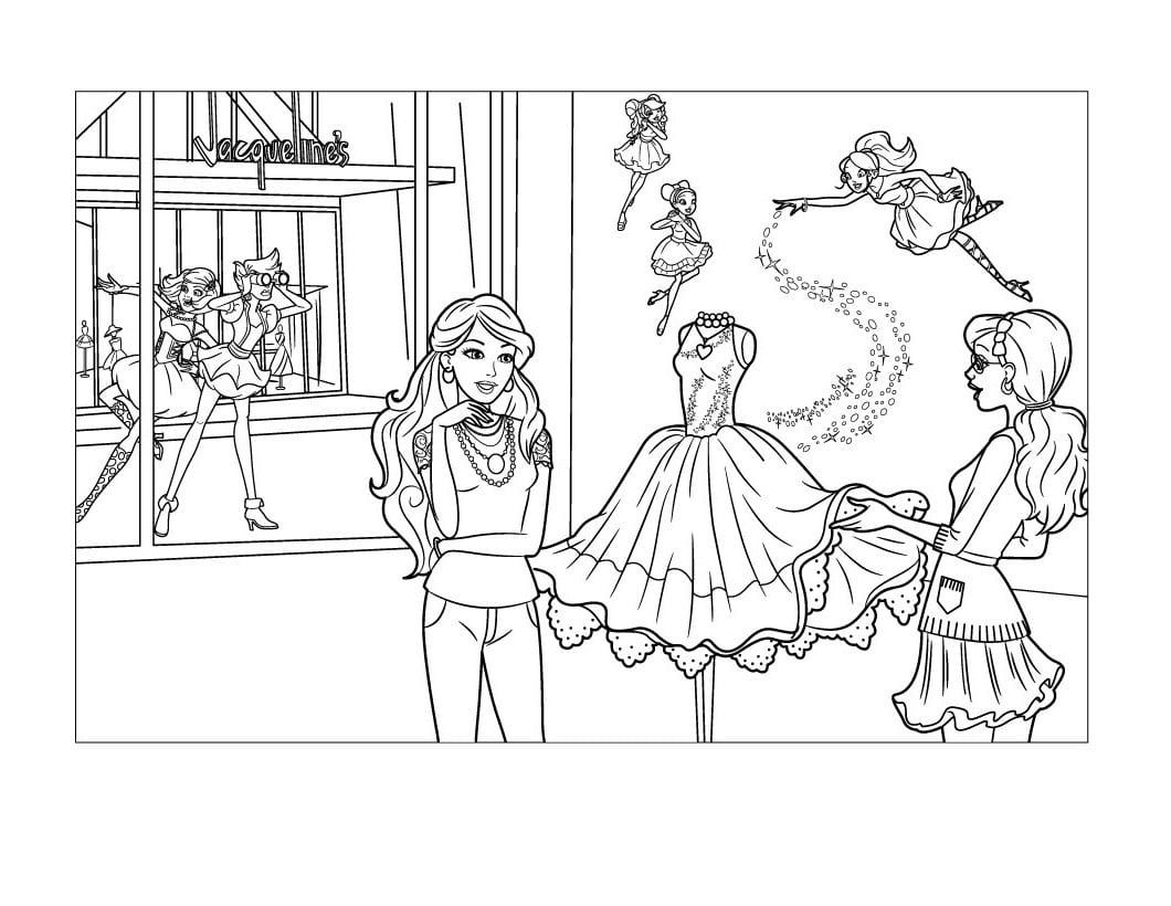 Desenhos De Barbie Moda E Magia Para Colorir