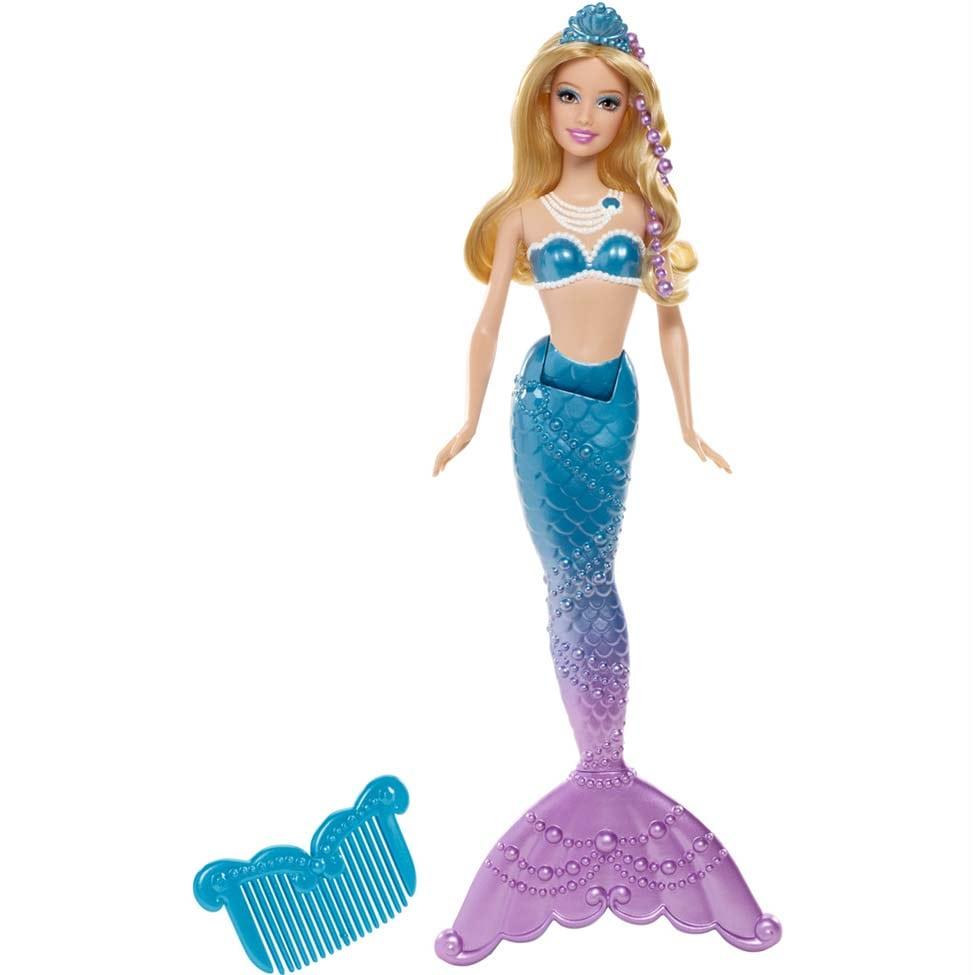 Boneca Barbie Sereia Das Pérolas Amiga Azul