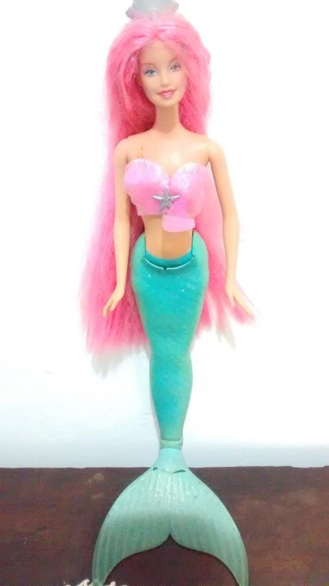 Boneca Barbie Sereia Mattel Antiga